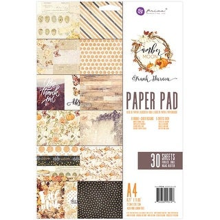 Amber Moon; 6 Designs/5 Each - Prima Marketing Double-Sided Paper Pad A4 30/Pkg