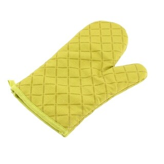 Home Kitchen Cross Pattern Microwave Oven Heat Resistance Glove