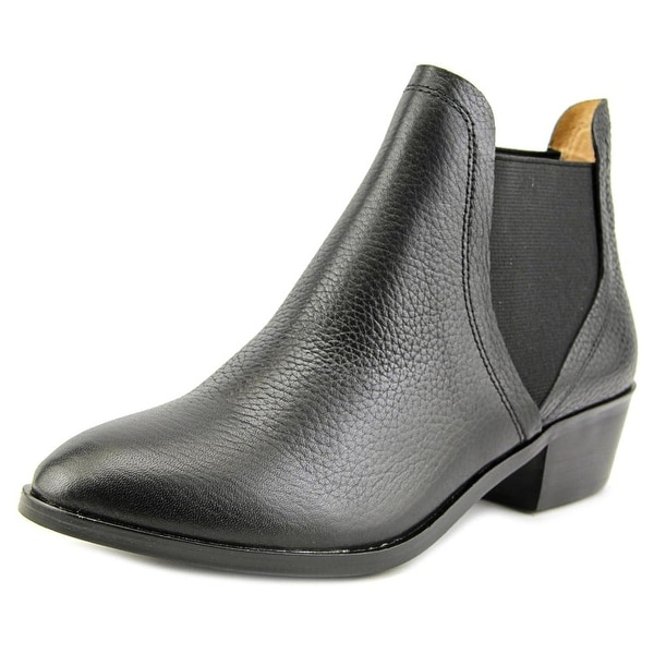 Splendid Henri Women Round Toe Leather Black Ankle Boot