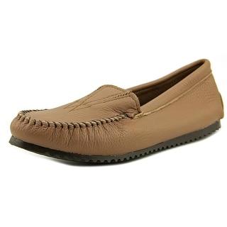 Minnetonka Deerskin Women  Round Toe Leather Brown Loafer