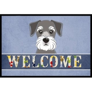 Carolines Treasures BB1392JMAT Schnauzer Welcome Indoor & Outdoor Mat 24 x 36 in.