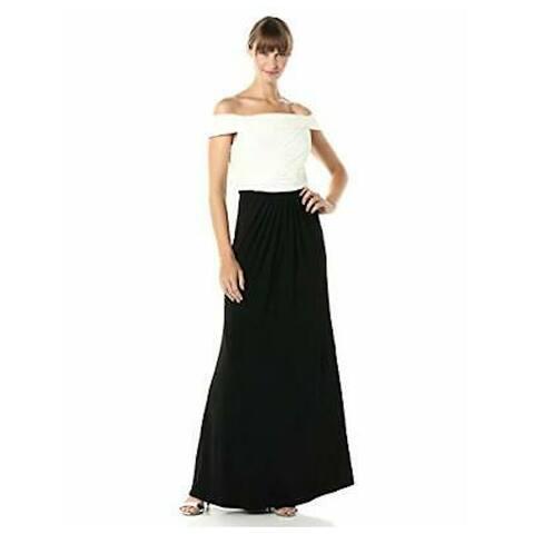 ADRIANNA PAPELL White Short Sleeve Maxi Dress 10