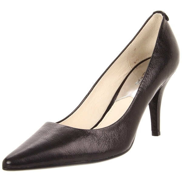 Michael Kors Womens Flex Mid Pump Leather Pointed Toe Classic Pumps