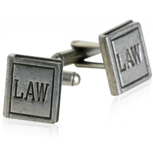 Law Book Pewter Lawyer Attorney Justice Cufflinks