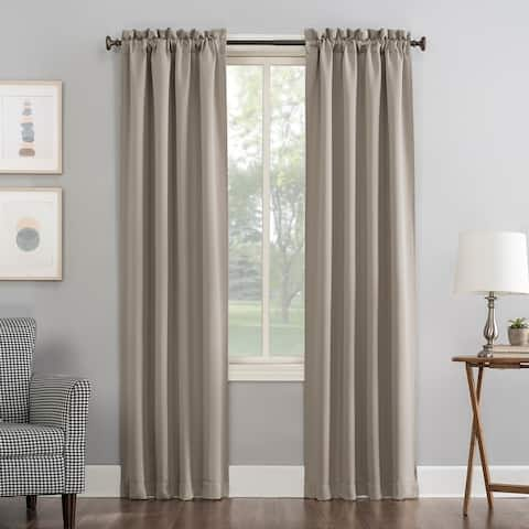 Sun Zero Hayden Energy Saving Blackout Rod Pocket Curtain Panel