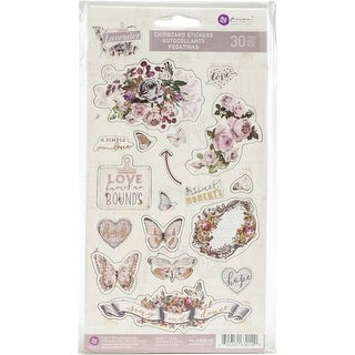 "Icons W/Rose Gold Foil Accents - Lavender Chipboard Stickers 5""X8"" 2/Pkg"
