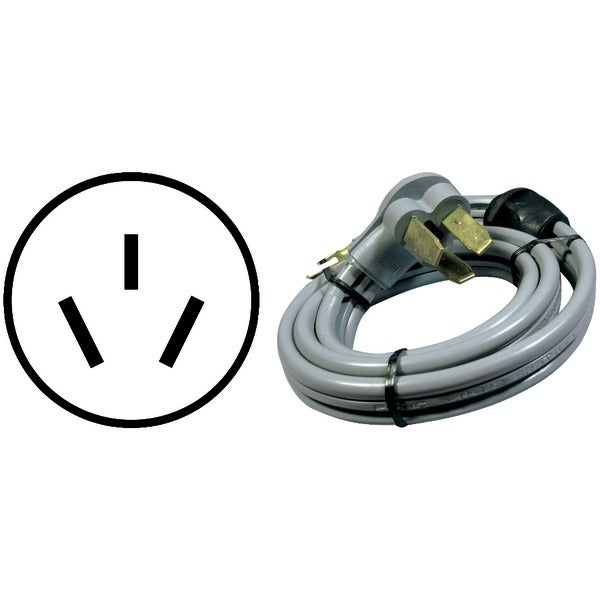 Certified Appliance 90-1070Qc 3-Wire Quick-Connect Range Cord, 4Ft (50A, Open Eyelet)