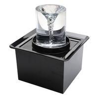 "Art & Artifact Vortex Decorative Tabletop Fountain - Indoor Quiet No Splashing Relaxing - 13"" High x 13"" Square"
