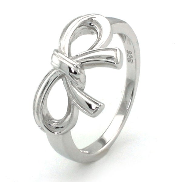 Sterling Silver Infinity Bow Ring
