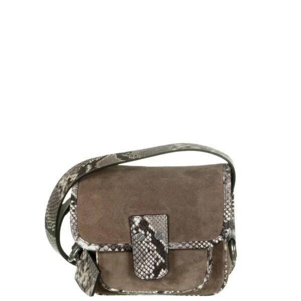 730766de0bf5 ... coupon code for michael kors hewitt medium suede dark dune crossbody  handbag a78e5 8a2fa ...