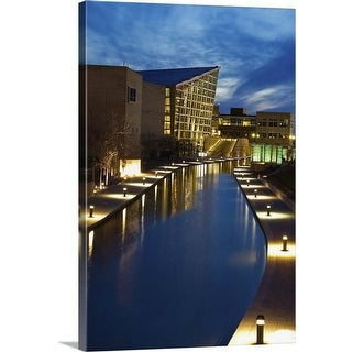 """""""Indiana, Indianapolis, Skyline with Indiana State Museum"""" Canvas Wall Art"""