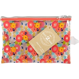 "Day 2 Day Planner Zipper Pouch 5""X8""-Orange Floral"