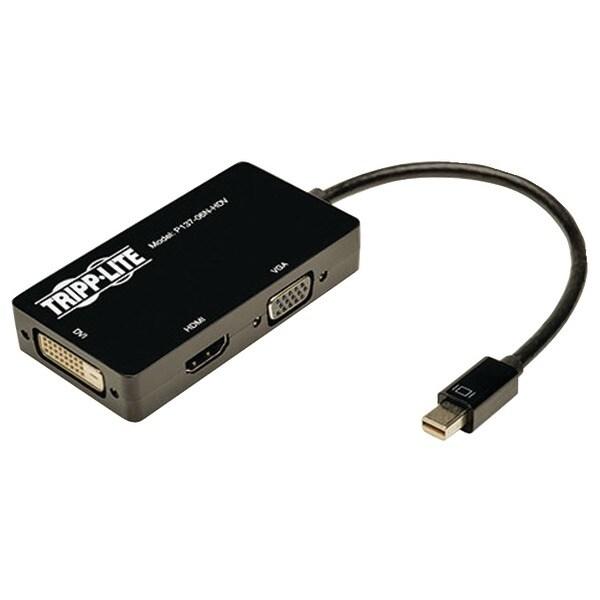 "Tripp Lite P137-06N-Hdv Mini Displayport To Vga/Dvi/Hdmi(R) All-In-One Adapter/Converter, 6"""