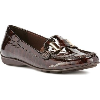 Walking Cradles Women's March Loafer Brown Patent Croco Printed Leather