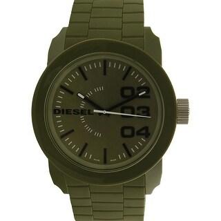 Diesel Men's Double Down DZ1780 Green Silicone Quartz Fashion Watch