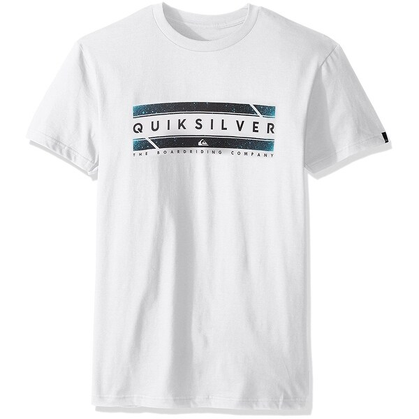 ae280ce0bf3 Shop Quiksilver NEW White Regular Fit Mens Size Medium M Graphic Print Tee  Shirt - Free Shipping On Orders Over  45 - Overstock.com - 19313131