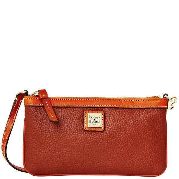 Dooney & Bourke Pebble Grain Large Slim Wristlet (Introduced by Dooney & Bourke at $88 in Jul 2014) - Amber