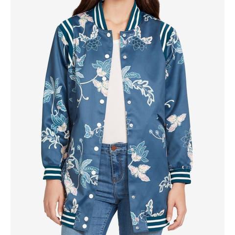 William Rast Women's Blue Magnolia Size Small S Majolica Bomber Jacket