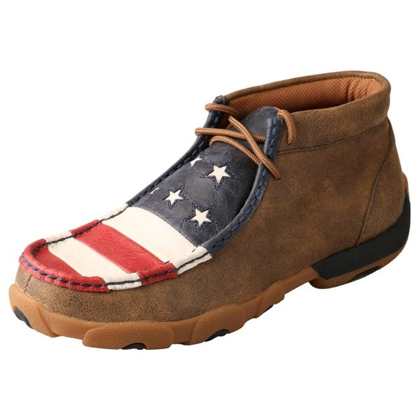 Twisted X Casual Shoe Women Driving Mocs Flag Lace Up Bomber
