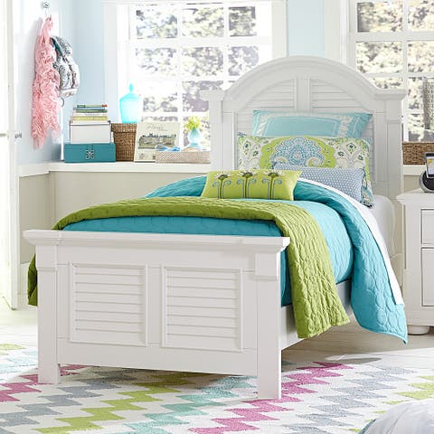 Summer House Oyster White Panel Bed