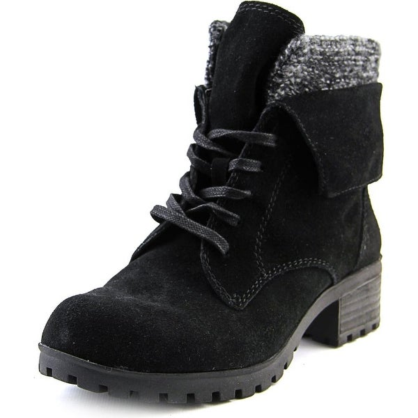 Lucky Brand Huntress Round Toe Suede Ankle Boot