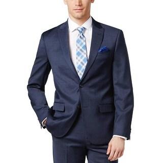Ben Sherman Ruxley Mens Slim Fit Suit Separate Jacket 46R Sportcoat Navy Blue