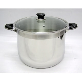 Link to 24 Qt Stainless Steel Tri-Ply Clad Heavy Duty Gourmet Stock Pot Similar Items in Cookware