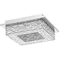 "Platinum PCSD1713 Stardust 12-3/4"" Wide Integrated LED Flush Mount Ceiling Fixtu"
