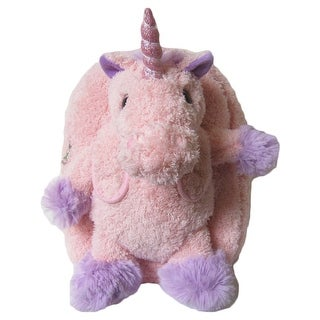 Kreative Kids Girls Pink Unicorn Removable Plush Stuffed Animal Backpack - One size