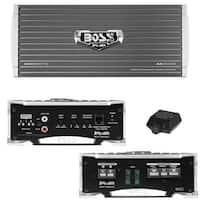 BOSS Audio AR2500M-Armor 2500 Watt, 2/4 Ohm Stable Class A/B, Monoblock, Mosfet Amplifier w/ Remote Subwoofer Control
