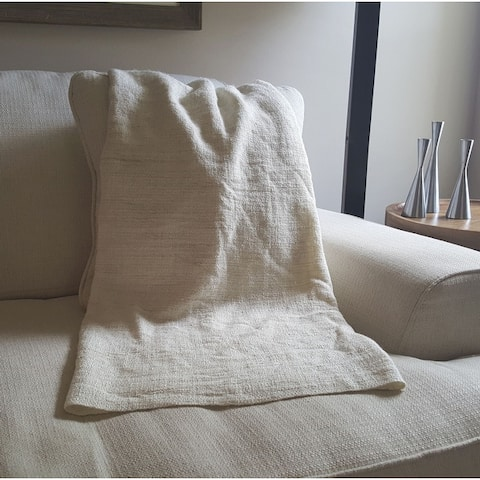 AANNY Designs Ethan Cozy Natural Acrylic Throw Blanket