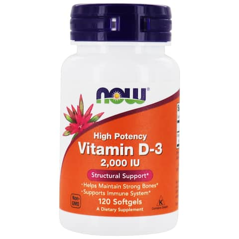 NOW Foods - Vitamin D-3 2000 IU - 120 Softgels