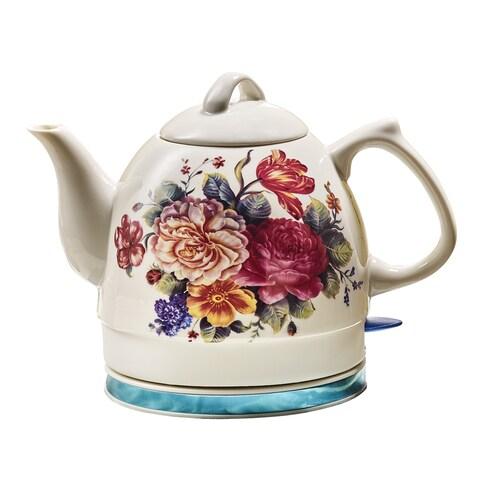 English Garden Electric Teakettle - 34 Ounce