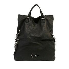 Jessica Simpson Womens Hanne Faux Leather Fold-Over Crossbody Handbag - white/black python - Large