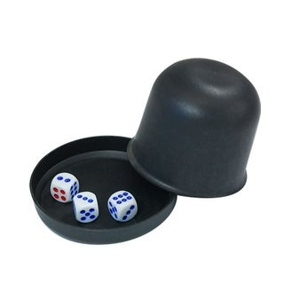 Game Dice Roller Cup Black w 3 Dices