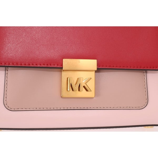 Shop Michael Kors Red Pink MINDY Satchel Crossbody Women's