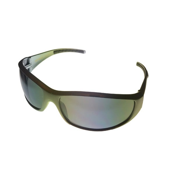 New Balance Sunglass NBSUN 382 2 Mettallic Silver  Plastic Wrap, Flash Lens - Medium