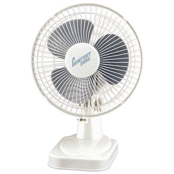 "Comfort Zone Cz6D 6"" Table Fan (White)"