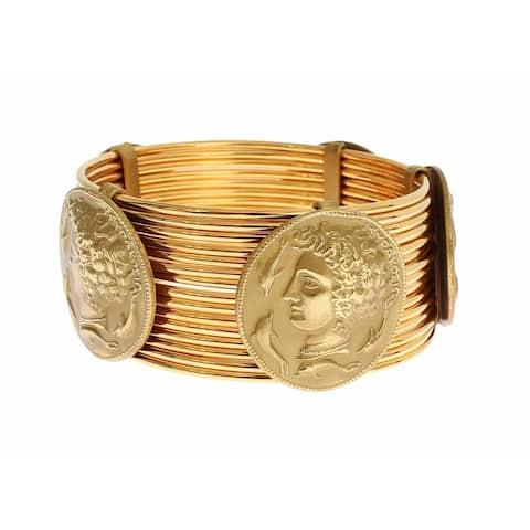 Dolce & Gabbana MONETE Gold Brass SICILY Coin Wide Bracelet