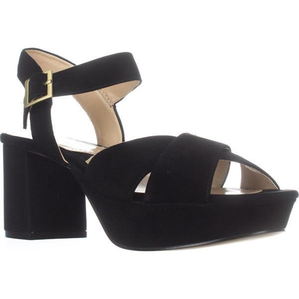 Adrienne Vittadini Footwear Powel Platform Sandals, Black