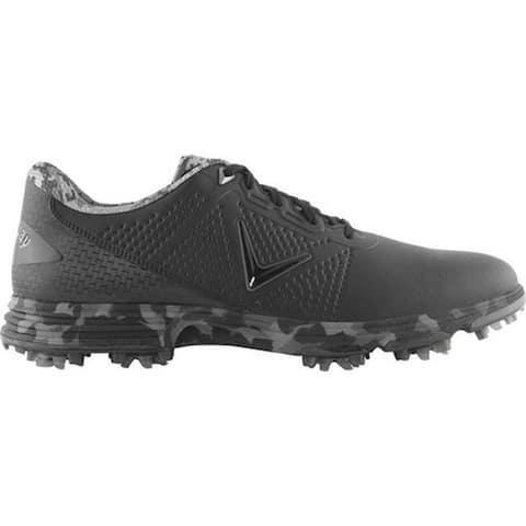 Callaway Men's Coronado Waterproof Golf Shoe Black Multi Microfiber Leather