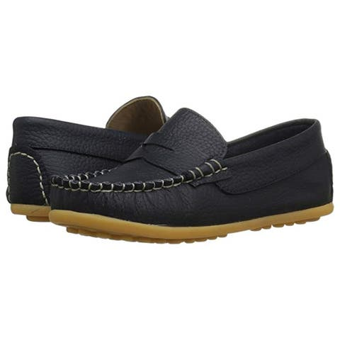 Kids Elephantito Boys alex drivers Leather Slip On Penny Loafers - 10