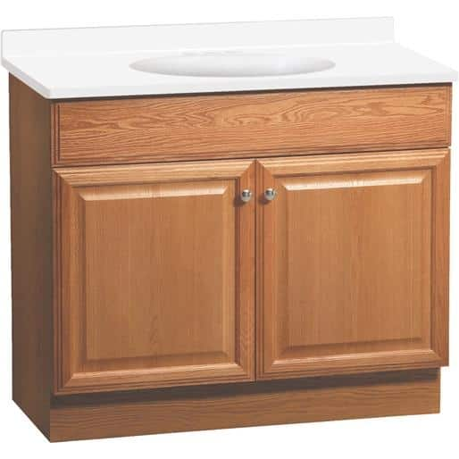 Continental Cabinets By Rsi Home Products Richmond 36in Oak Combo C14036a Unit Box Overstock 17495275