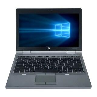"Refurbished HP EliteBook 2570P 12.5"" Laptop Intel Core i5-3210M 2.5G 8G DDR3 500G DVDRW Win 10 Pro 1 Year Warranty - Silver"