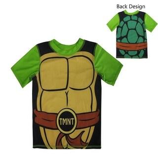Nickelodeon Little Boys Green Black TMNT Costume Print Rashguard