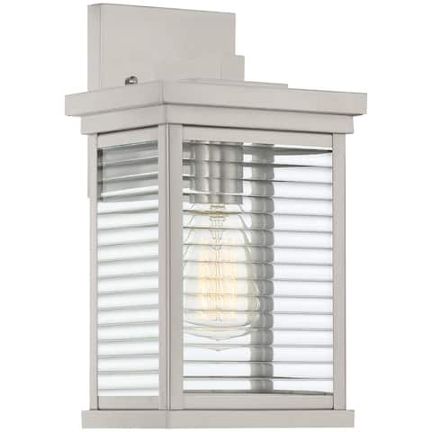 Ujir Stainless Steel 1-light Outdoor Wall Lantern by Havenside Home