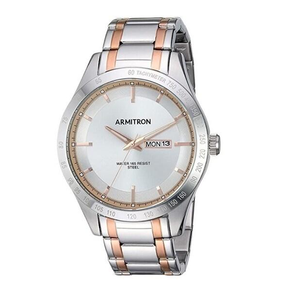 Armitron Men's 43mm Day/Date Function Two-Tone Bracelet Watch. Opens flyout.