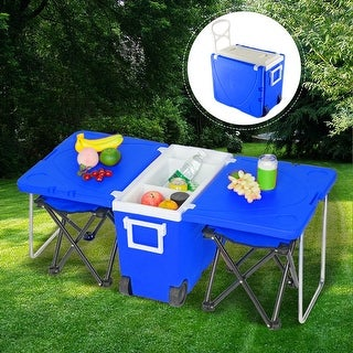 Link to Outdoor Picnic Foldable Multi-function Rolling Cooler Upgraded Stool Similar Items in Camping & Hiking Gear