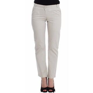 Ermanno Scervino Ermanno Scervino Beige Dress Pants Slim Skinny Leg Cotton - it42-s