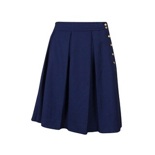 Tommy Hilfiger Women's Pleated Button A-line Skirt - 12